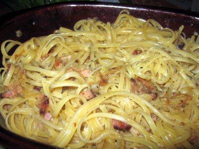 Nosso espaguete à Carbonara